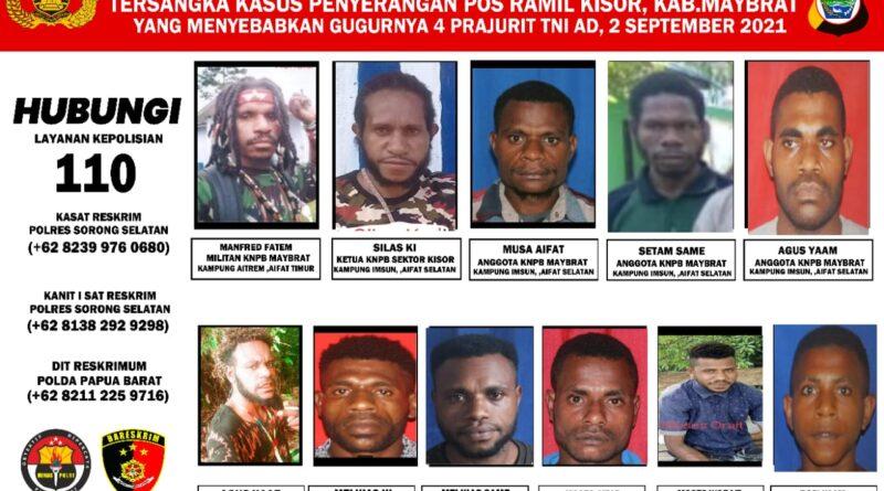 Kapolres Bantah DPO Penyerangan Posramil Berkeliaran di Kaimana